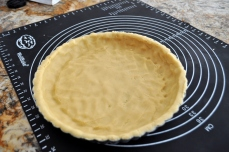 Press the crust into a tart shell