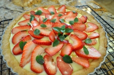 Strawberry Tart with Vanilla Coconut Pastry Cream
