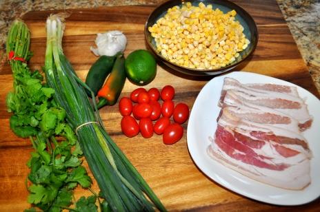 Spicy Corn Salad - Ingredients