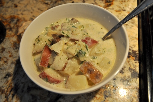 Fish Soup with Fennel and Dill