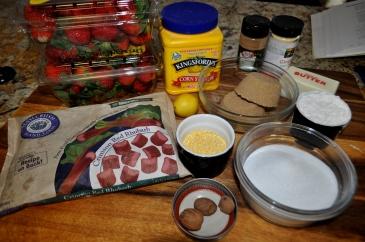 Strawberry Rhubarb Pie - Ingredients