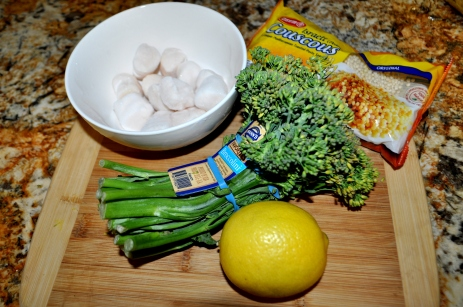 Scallops with Brocolini - Ingredients