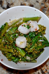 Scallops with Broccolini