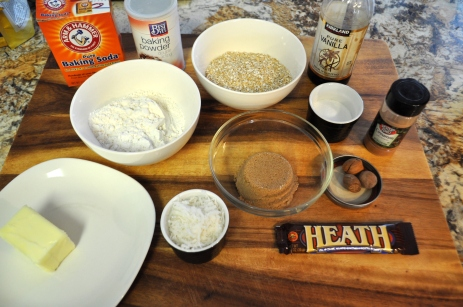Oatmeal Cookies with Heath Bits and Coconut - Ingredients