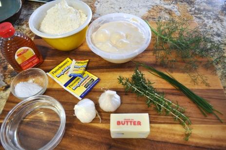 Garlic Herb Rolls - Ingredients