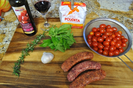 Roasted Cherry Tomatoes & Sausage - Ingredients
