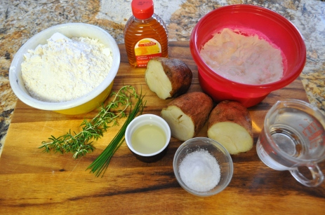 Rosemary Potato Bread - ingredients