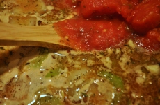 Tomatoes give the soup a nice richness and color