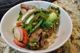 Beef & Bean Sprout Stir Fry