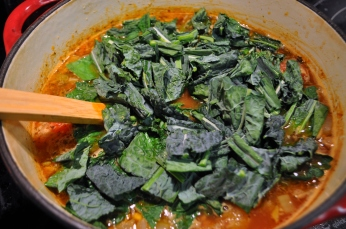 Add the kale to the soup