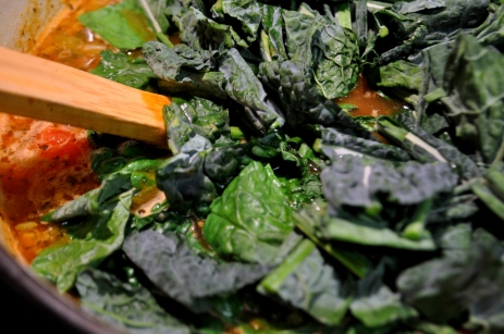 Stir in the kale
