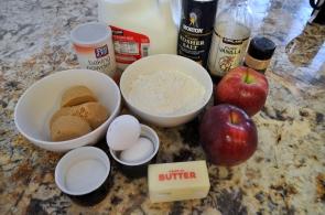 Cinnamon Apple Bread - Ingredients