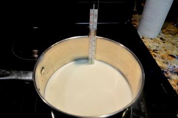 Warming the milk