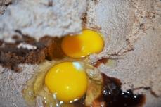 Add eggs and vanilla
