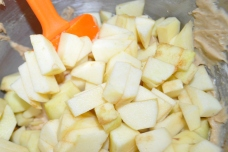 Fold in the chopped apples