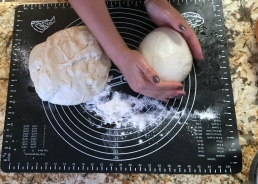 Working the dough