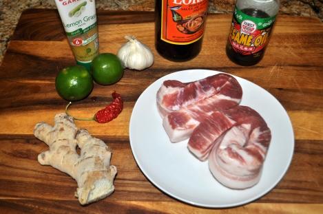 Spicy Pork Belly - Ingredients