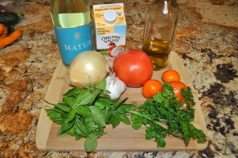 Tomato Cream Sauce - Ingredients