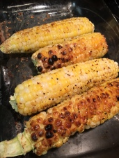 Roasted homegrown corn. So delish!