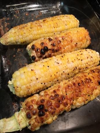 Roasted homegrown corn. So delish!