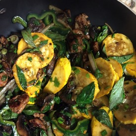 That summer squash became a wonderful stirfry