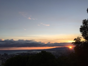 Sunset of the Waianae mountains