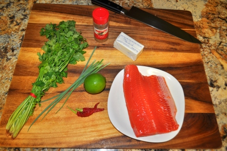 Salmon with Cilantro Lime Butter - Ingredients