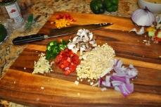 Chop everything beforehand