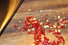 Chopped chilis
