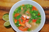 Sweet Corn and Shrimp Soup