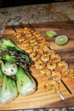 Curry Shrimp & Grilled Bok Choy