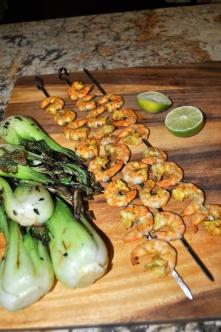 Curry Shrimp & Grilled Bok Choy