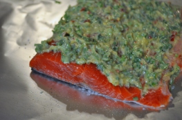 Salmon with Cilantro Lime Butter