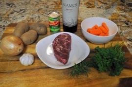Red Wine Braised Beef - Ingredients