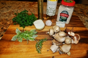 Mushroom Risotto - Ingredients