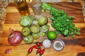 Roasted Tomatillo Salsa - Ingredients