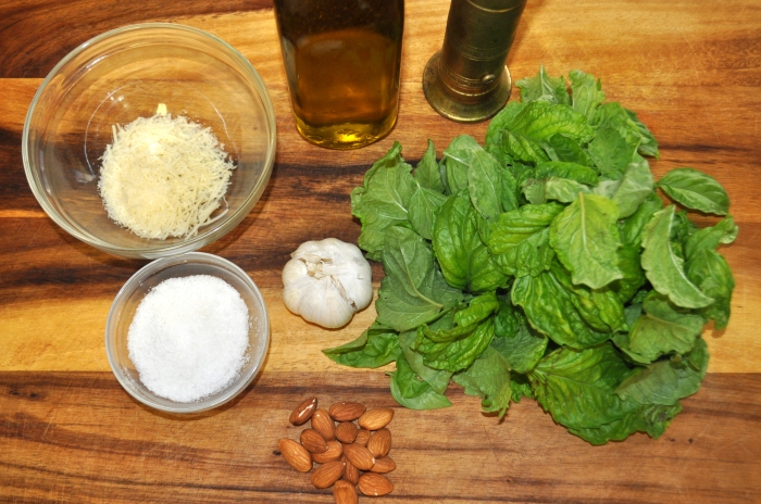 Basil Almond Pesto - Ingredients