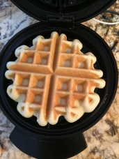 And out comes a gorgeous waffle!