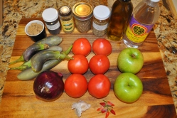 Eggplant & Tomato Chutney - Ingredients