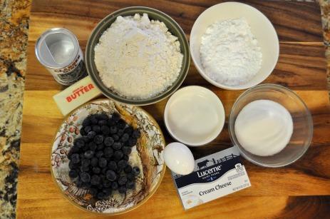 Blueberry Cream Cheese Scones - Ingredients