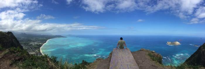 Deadman's Catwalk and a view of the whole Windward side of Oahu