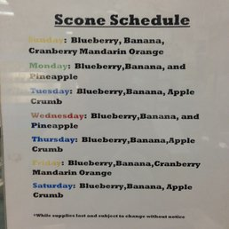 scone schedule