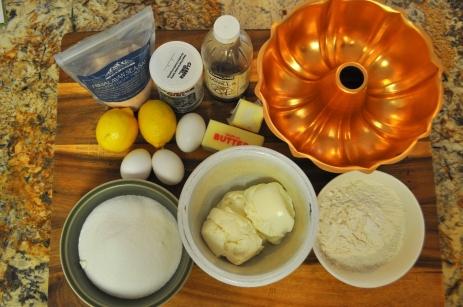 Lemon Ricotta Pound Cake - Ingredients