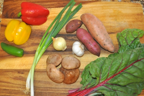 Sweet Potato & Swiss Chard Hash - Ingredients