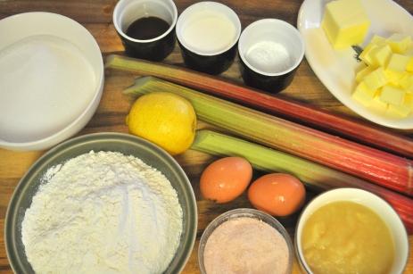 Rhubarb Upside Down Cake - Ingredients
