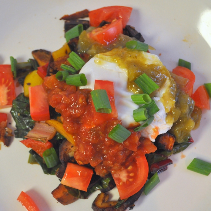 Sweet Potato & Swiss Chard Hash