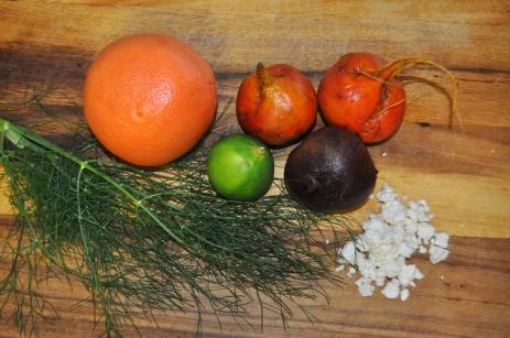 Beet Salad with Fennel & Grapefruit - Ingredients