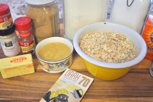 Oatmeal Applesauce Cookies - Ingredients