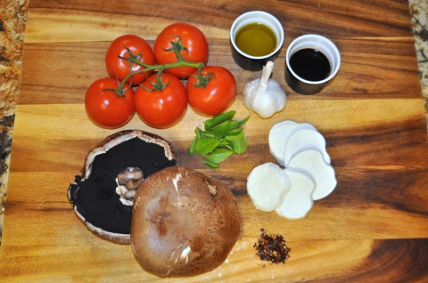 Caprese Stuffed Portobellos - Ingredients