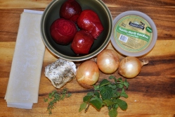 Beet & Goat Cheese Tarts - Ingredients